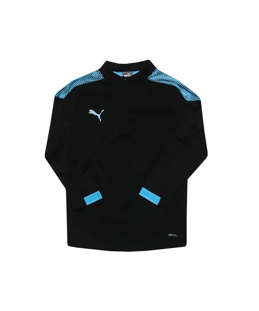 Image for Boys' Puma Junior ftblNXT Quarter Zip Training Sweater in Black