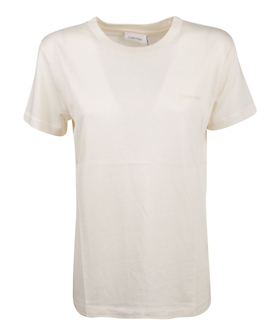 Image for CALVIN KLEIN WOMEN'S K20K201723YAX WHITE VISCOSE T-SHIRT