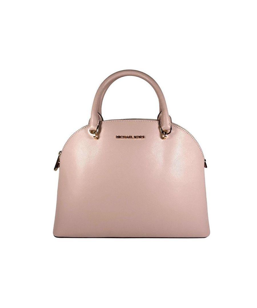 Image for Michael Kors Emmy Large Dome Leather Satchel Bag