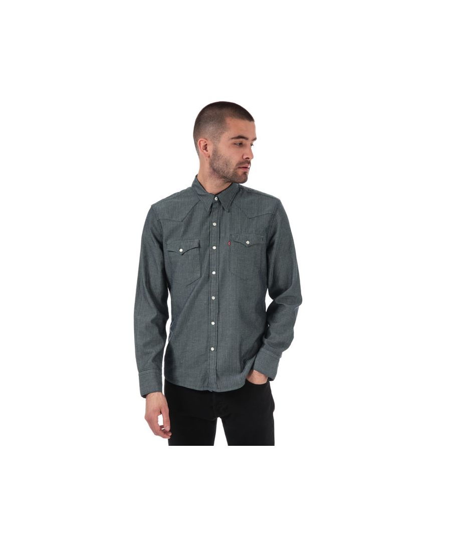 Image for Men's Levis Barstow Western Shirt in Indigo