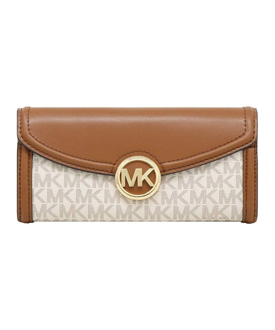 Image for Michael Kors Fulton Flap Continental PVC Signature Wallet