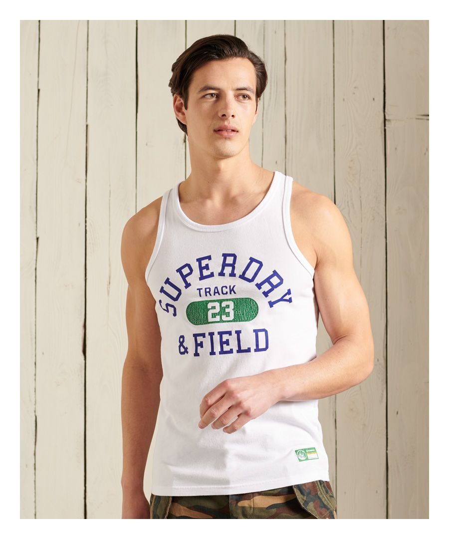 Image for Superdry Track & Field Graphic Vest