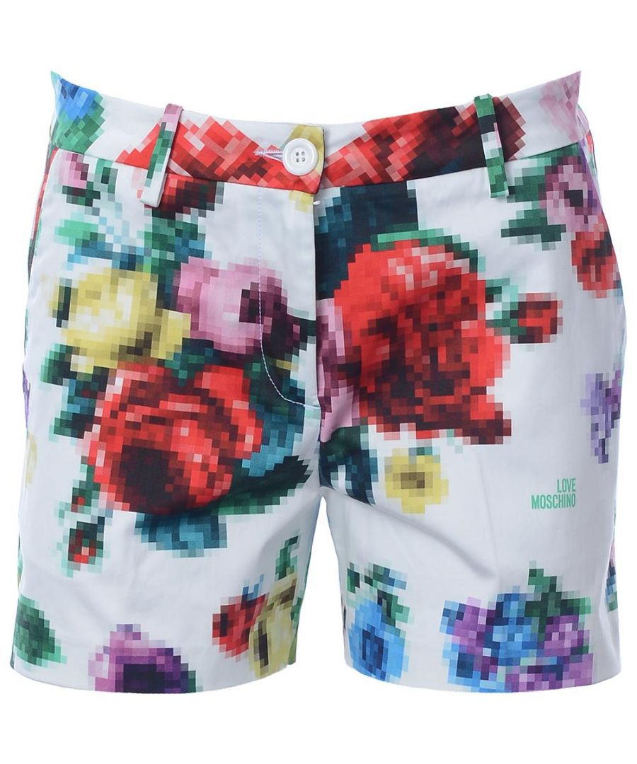 Image for Love Moschino SHORT - PIXEL FLOWER ALLOVER PR.-A00+PIXEL FLOW. in Multicoloured