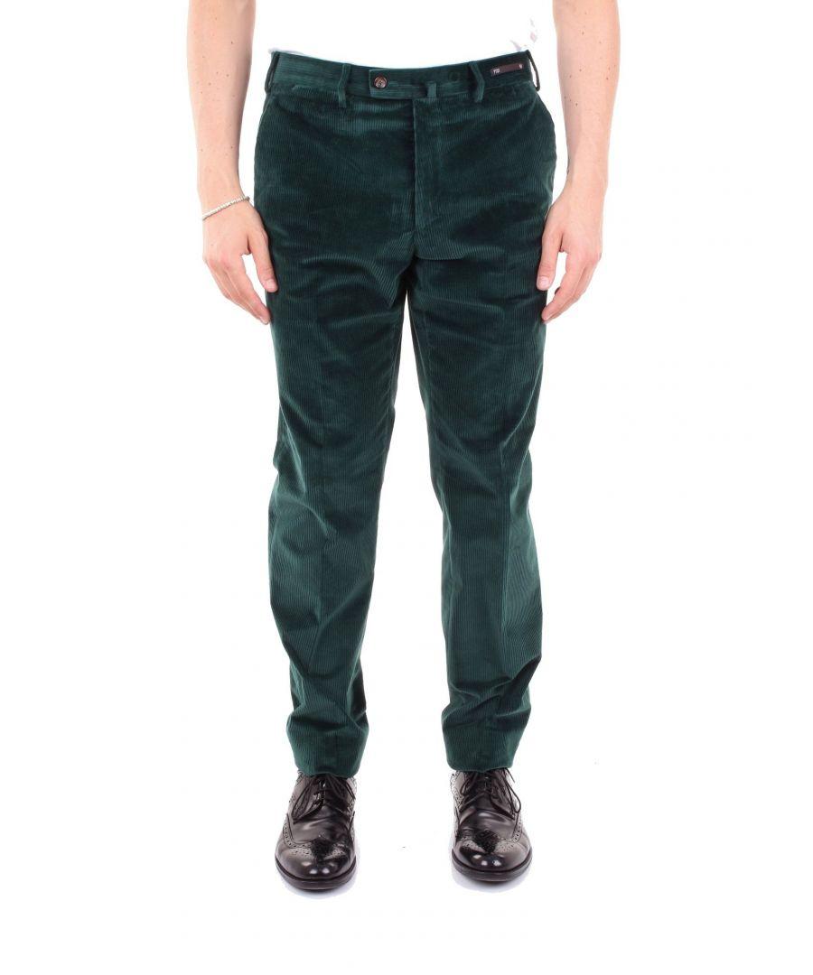 Image for PT01 MEN'S P691NS01ZT0CL2GREEN GREEN COTTON PANTS