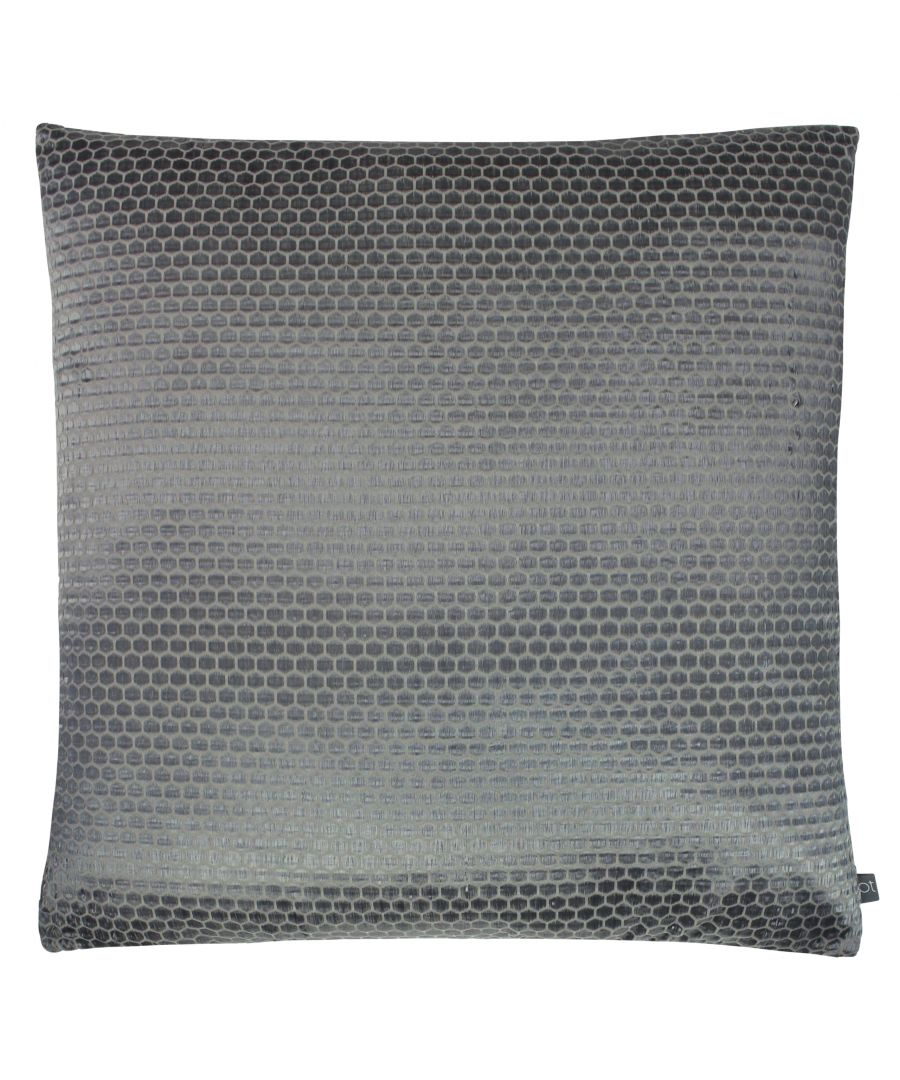 Image for Prestigious Textiles Emboss Polyester Filled Cushion, Polyester, Cotton, Sterling