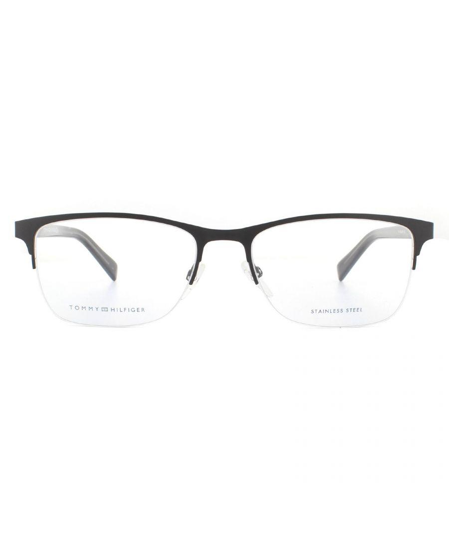 Image for Tommy Hilfiger Glasses Frames TH 1453 B0F Matte Black Grey Men