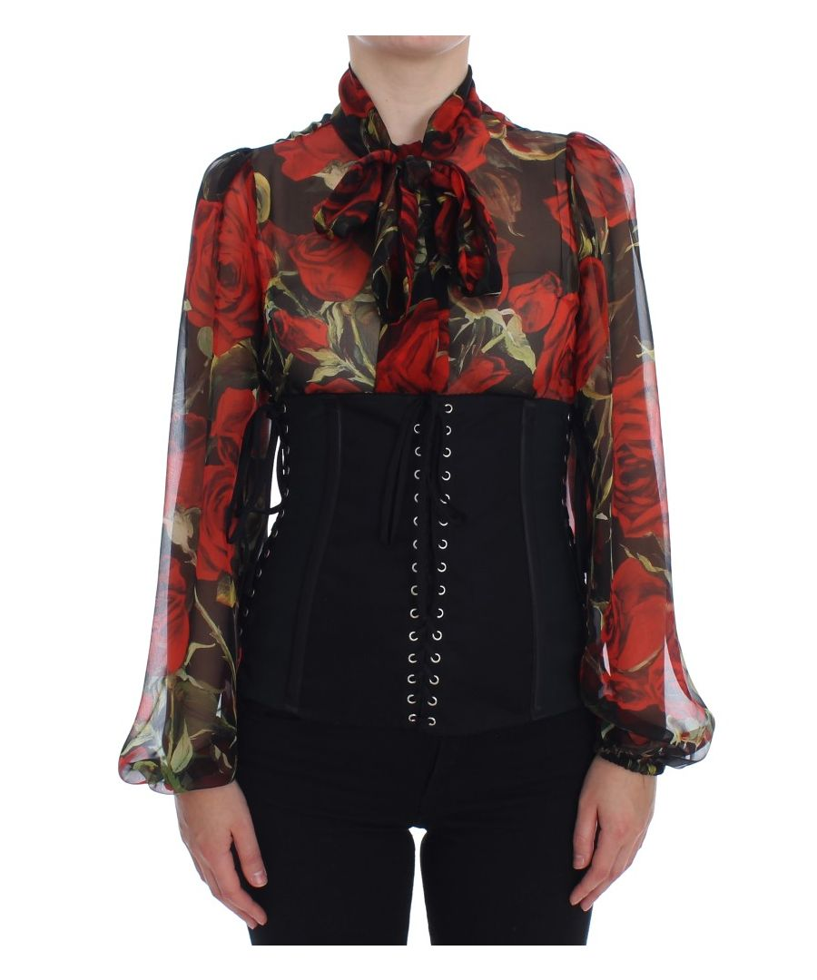 Image for Dolce & Gabbana Black Stretch Waist Strap Corset Belt