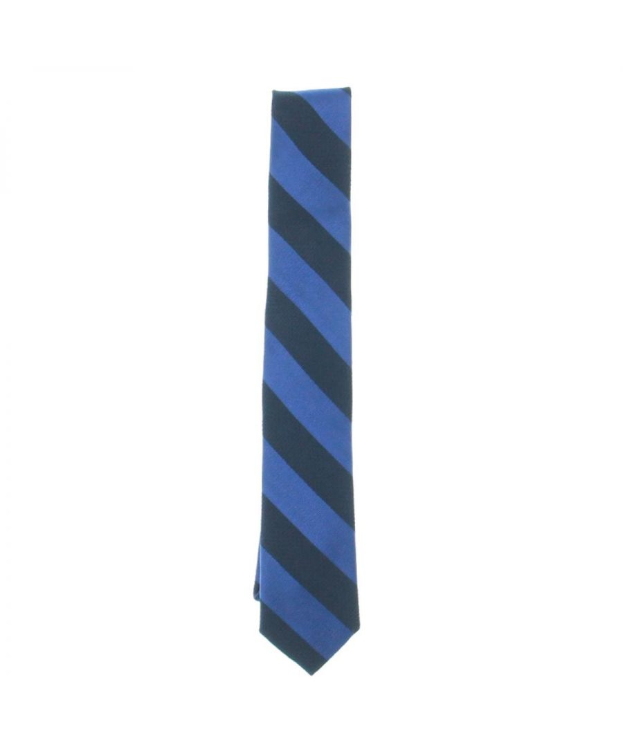 Image for Tommy Hilfiger Men's Neck Tie Navy Blue Combo Textured Striped Silk