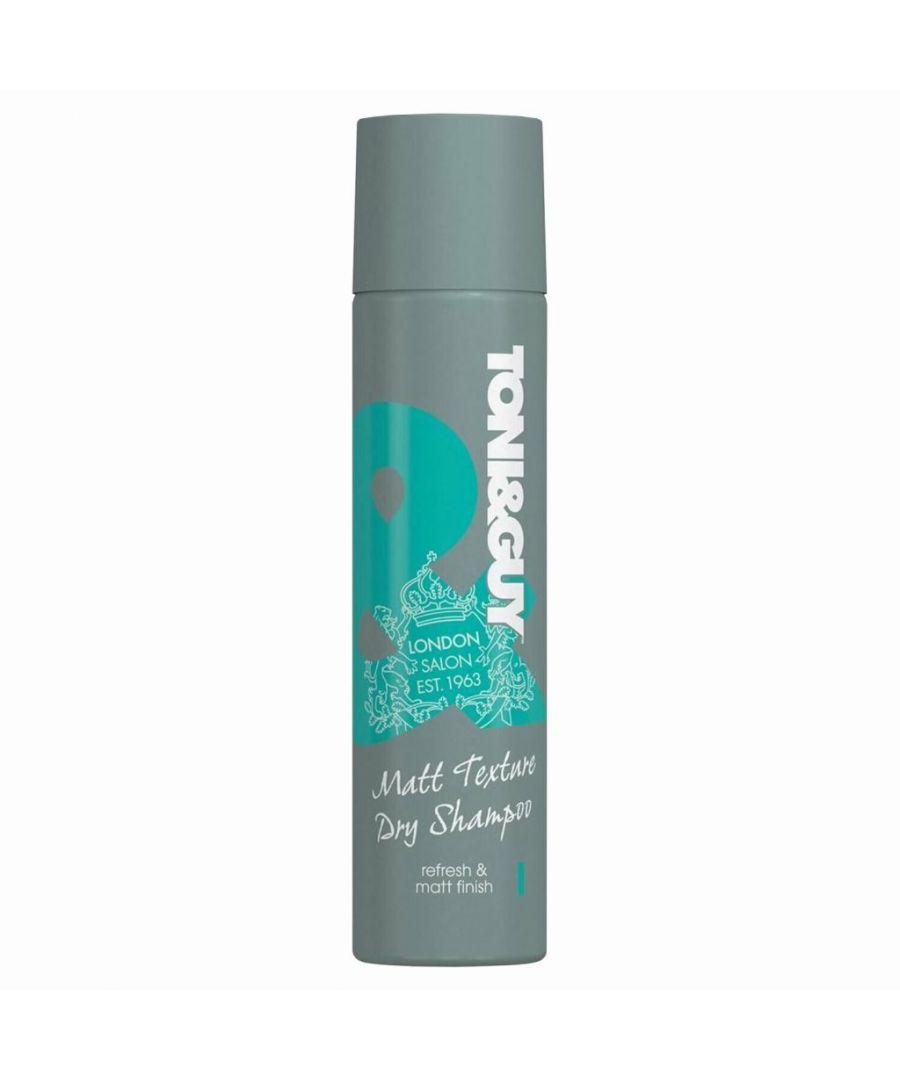 Image for Toni & Guy Matt Texture Dry Shampoo 250ml