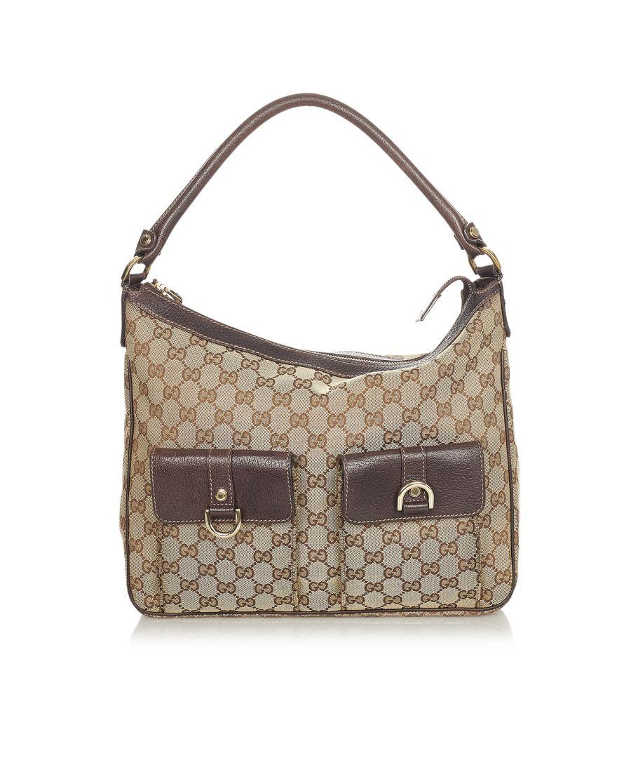 Image for Vintage Gucci GG Canvas Abbey Shoulder Bag Brown