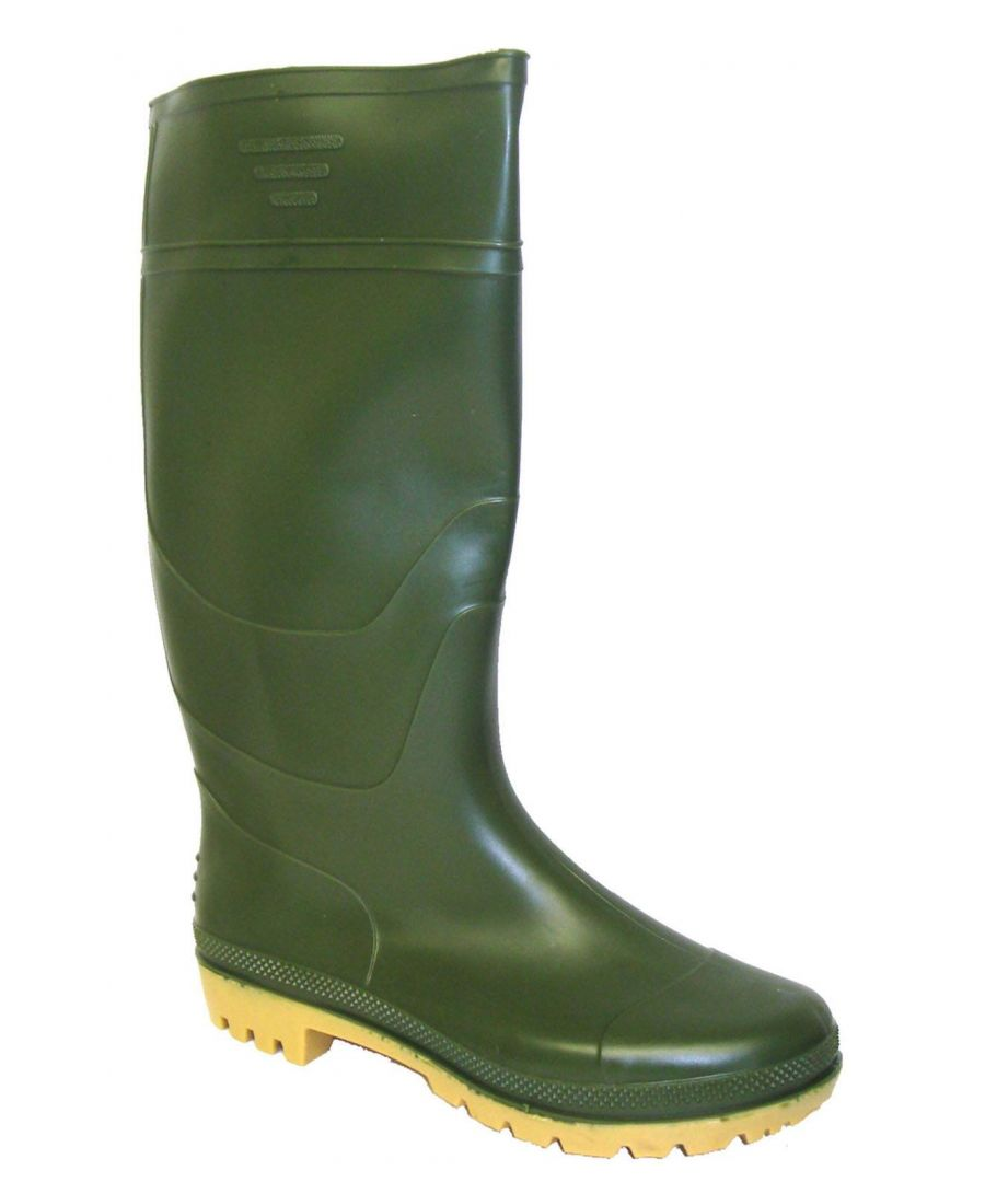 Image for New Mens/Gents Green Full Length Rubber Waterproof Wellington Boots.