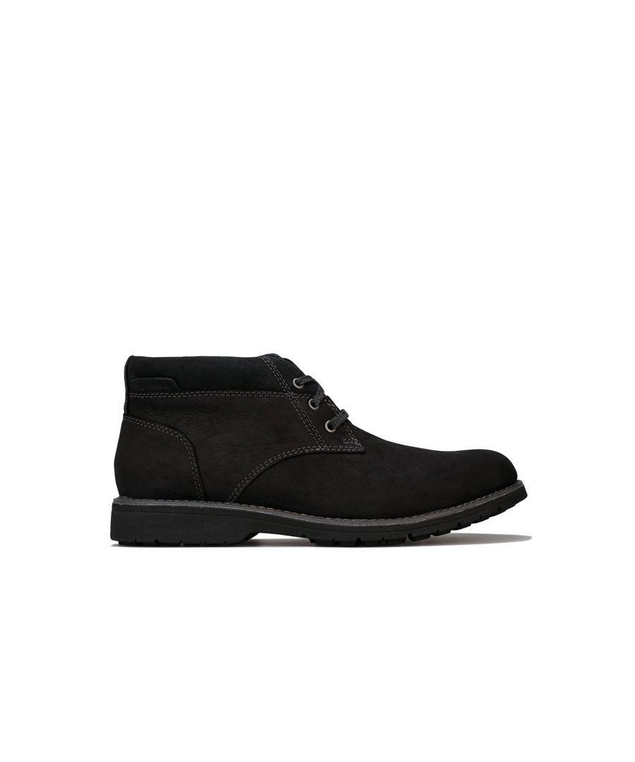 Image for Men's Hush Puppies Beauceron Plain Toe Chukka Boot in Black