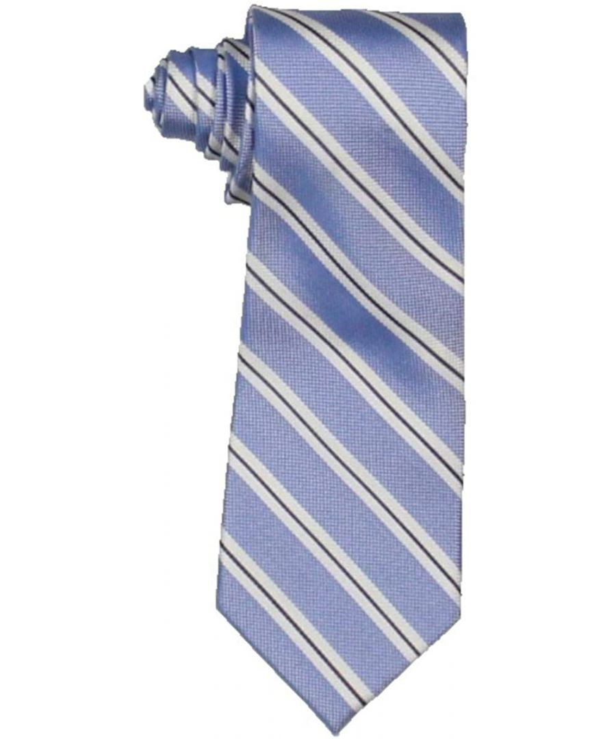 Image for Tommy Hilfiger Men's Neck Tie Blue Dallas Striped Textured Classic Silk