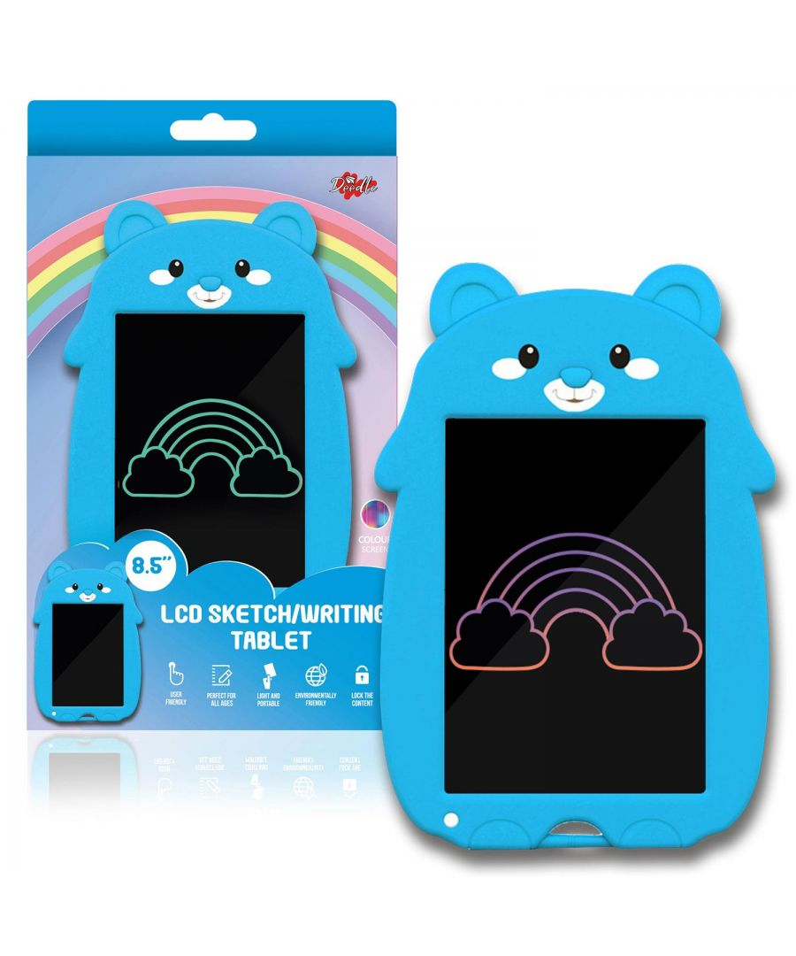Image for Doodle 8.5inch Kid's LCD Writing Tablet With Cartoon Pad Blue Bear