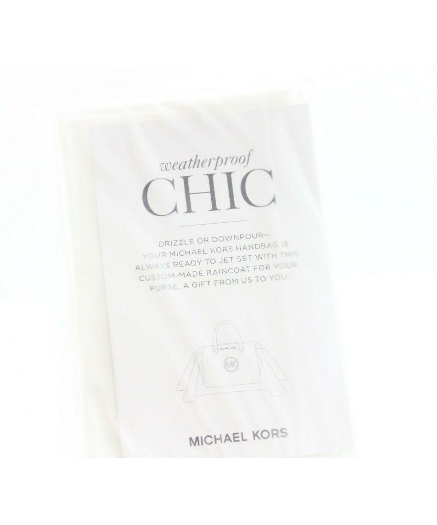 Image for Michael Kors White Clear Handbag Purse Raincoat Weatherproof Chic