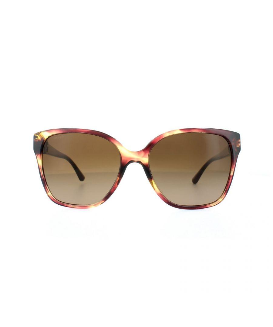 Image for Giorgio Armani Sunglasses AR8061 516913 Striped Violet Brown Gradient