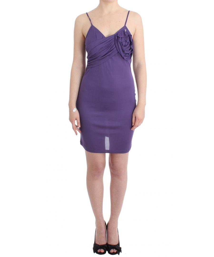 Image for Galliano Purple jersey dress