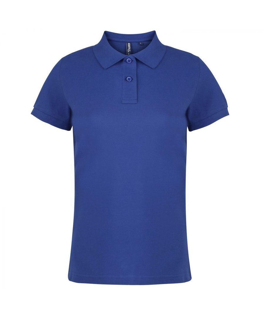 Image for Asquith & Fox Womens/Ladies Plain Short Sleeve Polo Shirt (Royal)