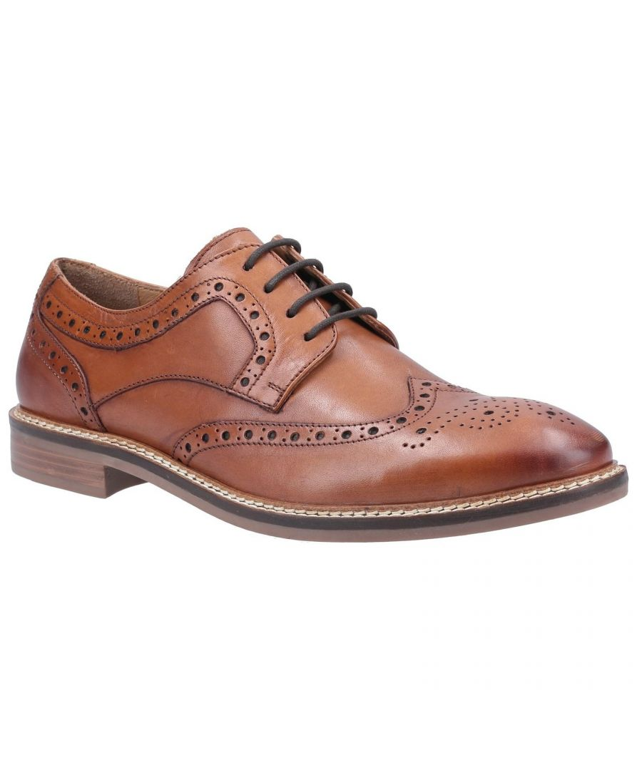 Image for Hush Puppies Mens Bryson Leather Brogues (Tan)