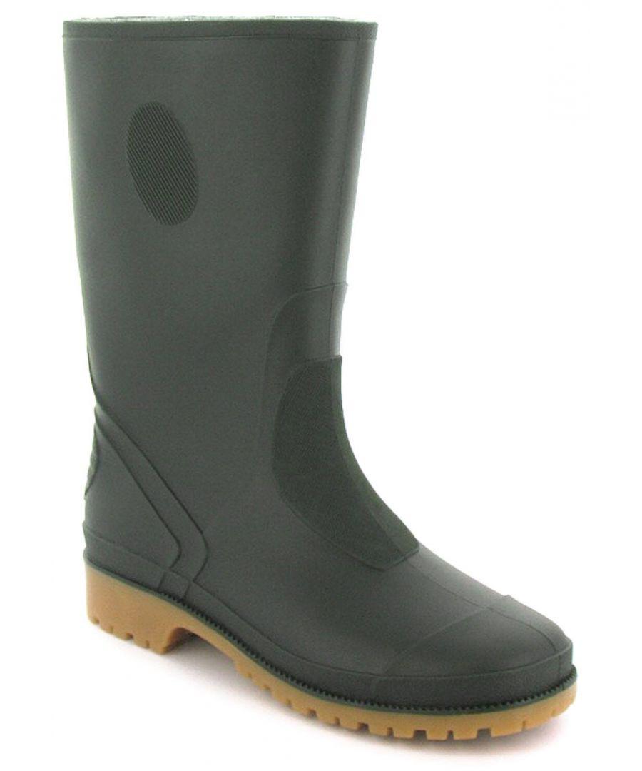 Image for New Boys/Childrens Green Pvc Long Leg Wellington Boots