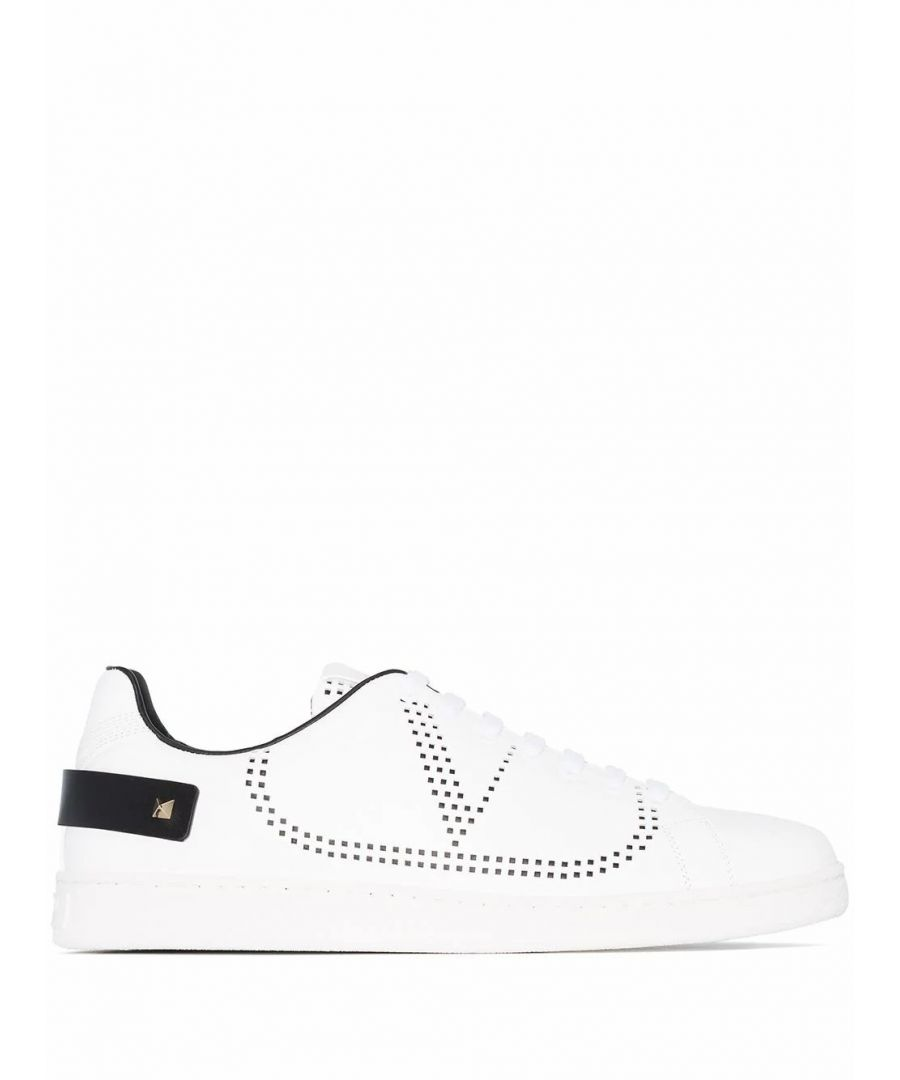Image for VALENTINO MEN'S TY2S0C04DYHM15 WHITE LEATHER SNEAKERS