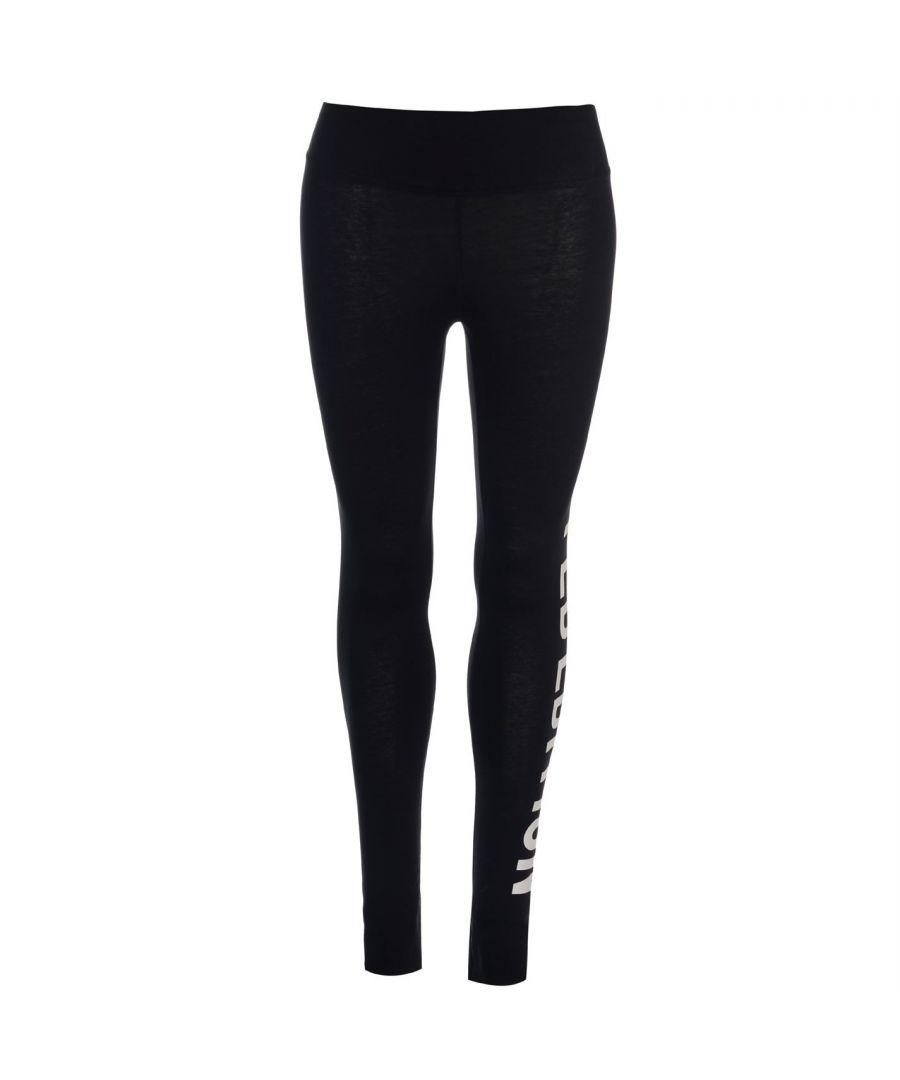 Image for Golddigga Womens Large Logo Leggings Activewear Training Gym Cotton Blend Bottom