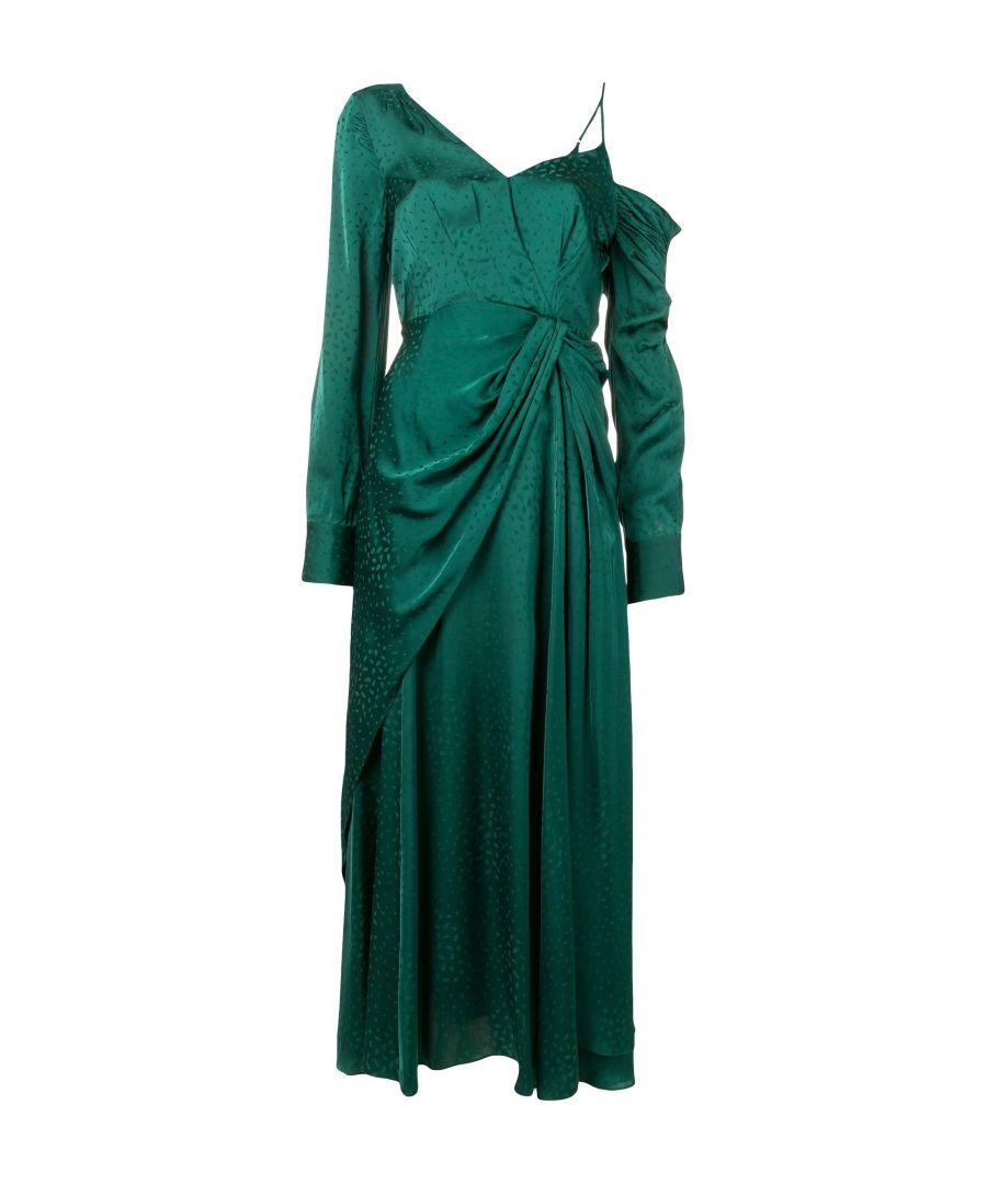 Image for SELF-PORTRAIT WOMEN'S SP21014LGREEN GREEN VISCOSE DRESS