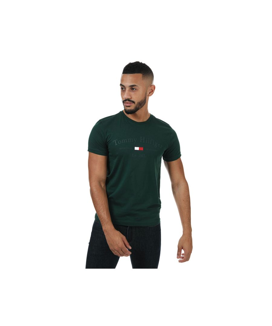 Image for Men's Tommy Hilfiger Printed T-Shirt in Green