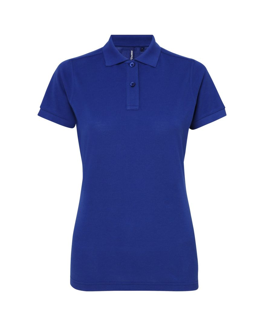 Image for Asquith & Fox Womens/Ladies Short Sleeve Performance Blend Polo Shirt (Royal)