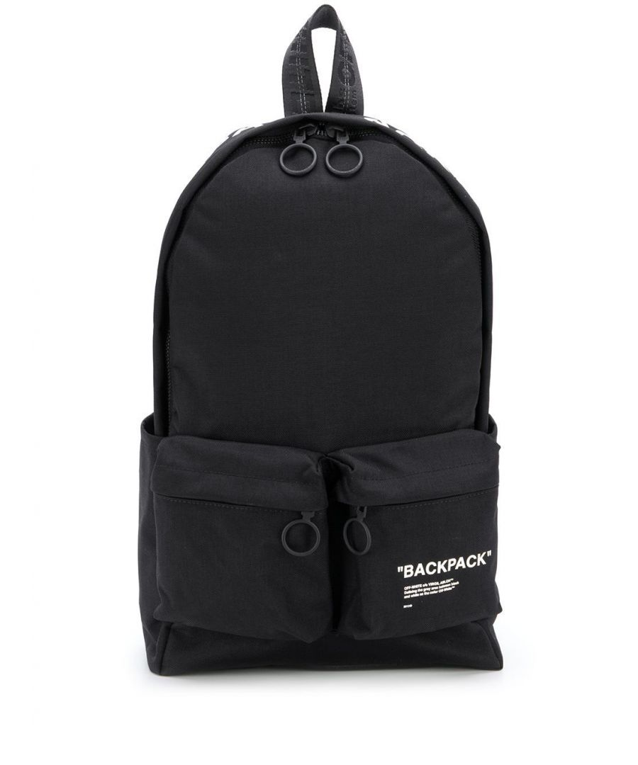 Image for OFF-WHITE MEN'S OMNB003R205210381001 BLACK SYNTHETIC FIBERS BACKPACK