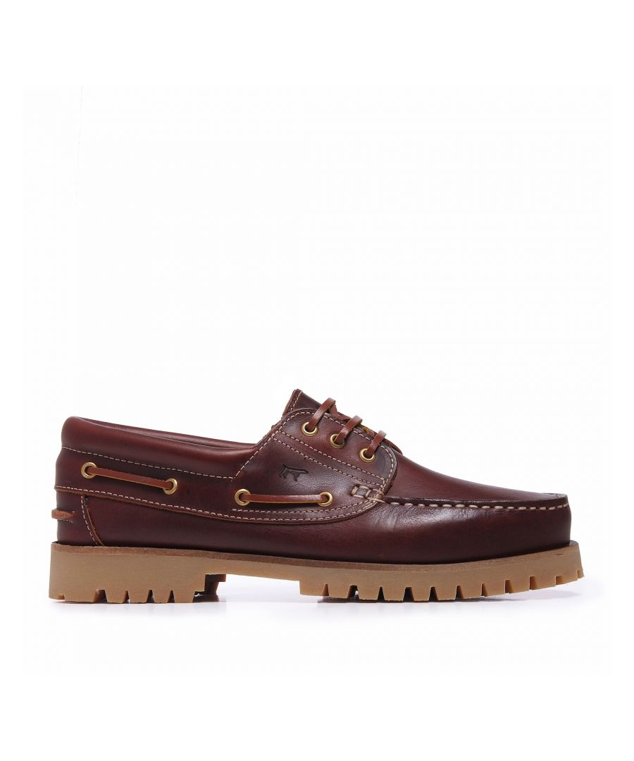 Image for Castellanísimos Leather Bordeaux Moccasins Boat Shoes For Men