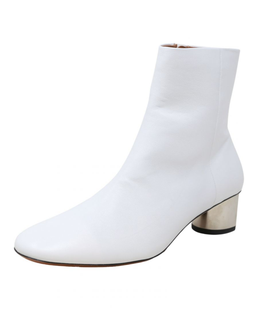 Image for Clergerie Paris Women's Paige White / Double Gold High-Top Leather Pump - 8M