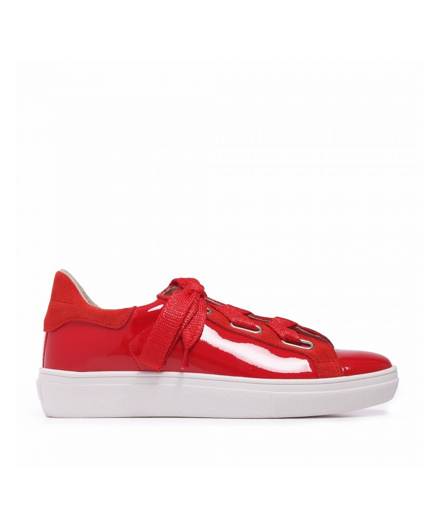 Image for Sneakers Leather Red María Barceló