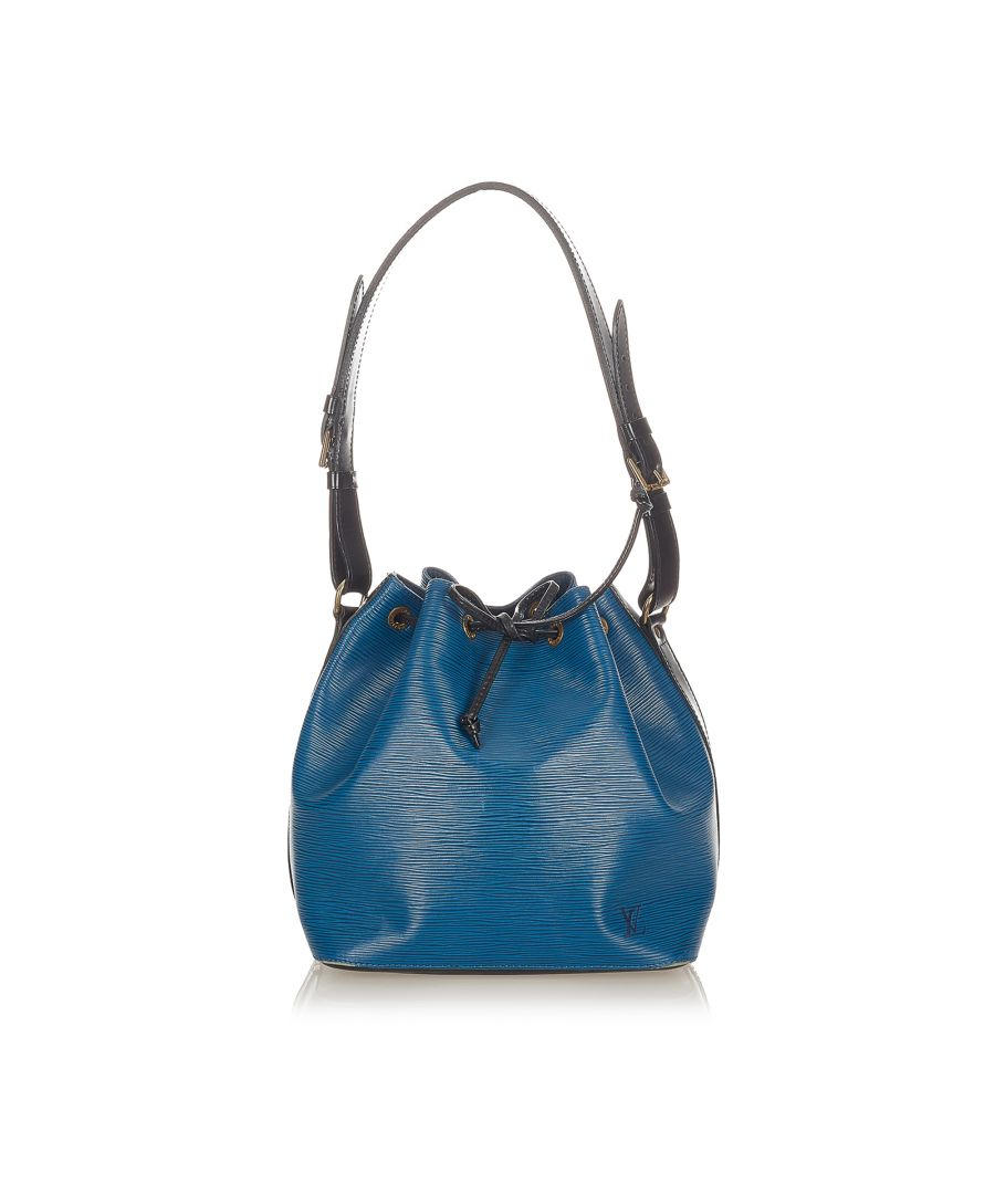 Image for Vintage Louis Vuitton Epi Noe Bucket Bag Blue