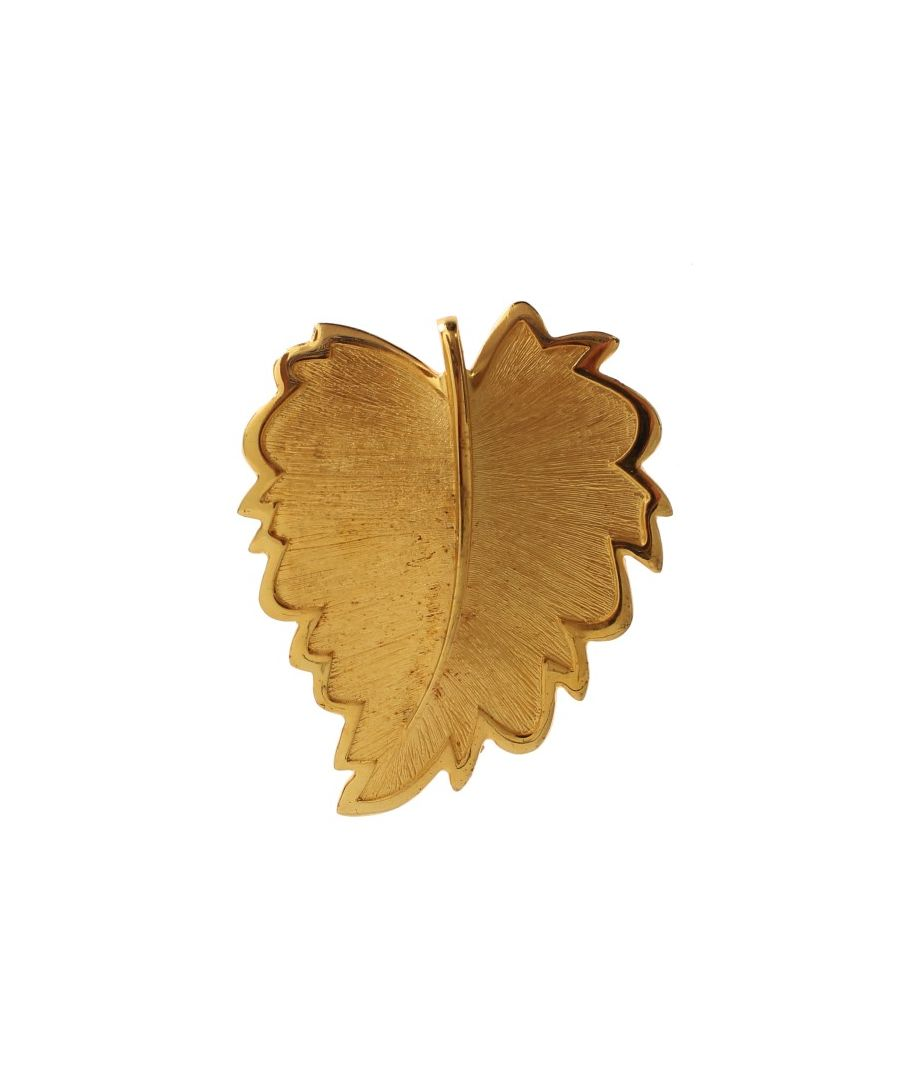 Image for Dolce & Gabbana Gold Plated Brass Leaf Brooch