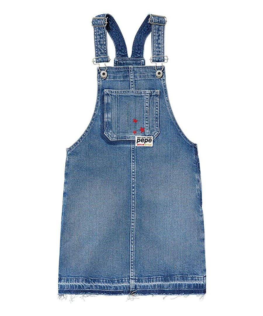 Image for Pepe Jeans Girls Bib Style Denim Dress in Blue