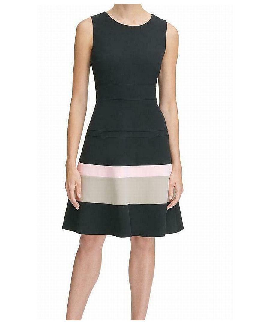 Image for Tommy Hilfiger Women's Dress Black Size 4 A-Line Colorblock Bottom