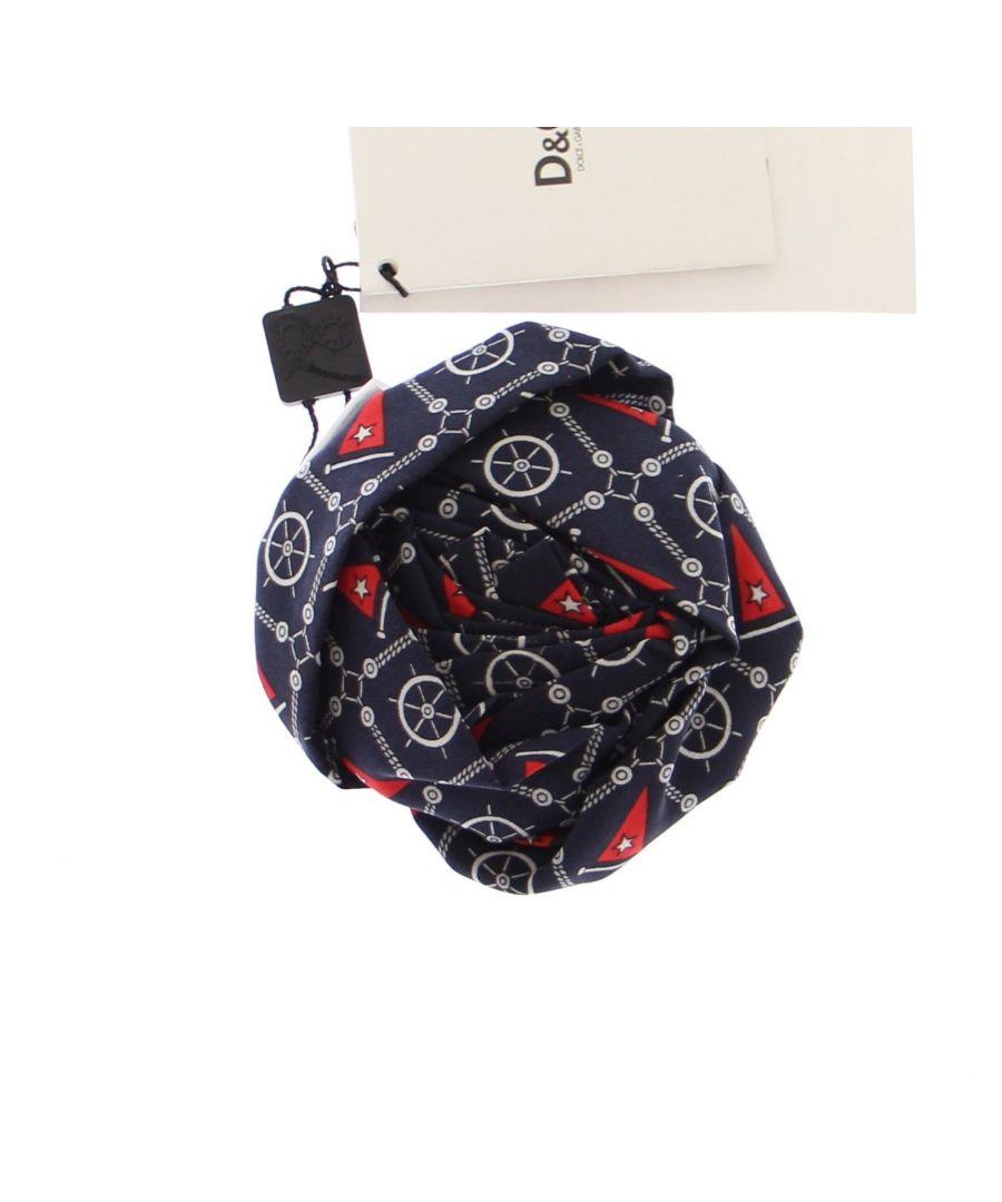 Image for Dolce & Gabbana Blue Marine Rose Silk Brooch