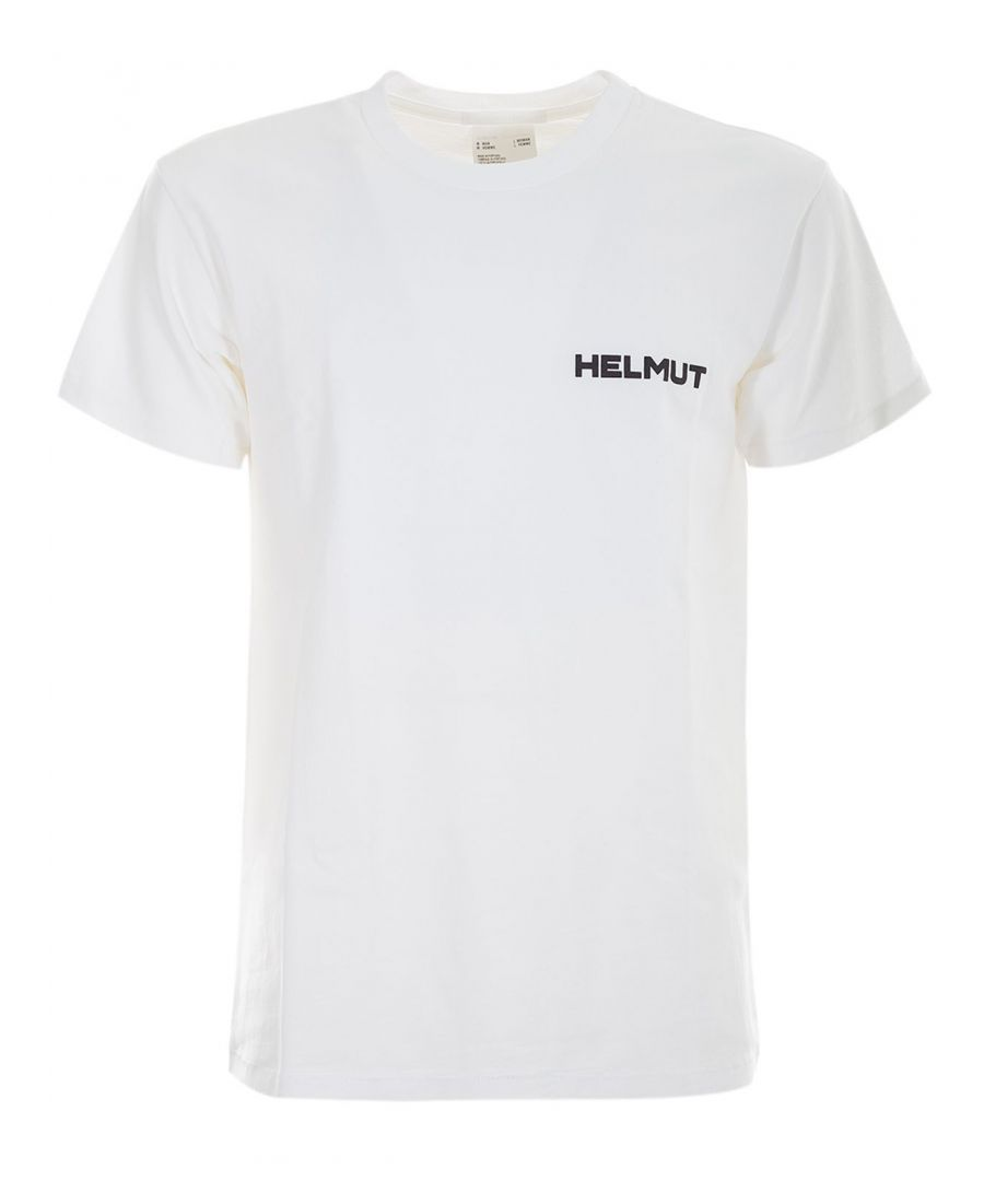 Image for HELMUT LANG MEN'S I07LM502V02 WHITE COTTON T-SHIRT