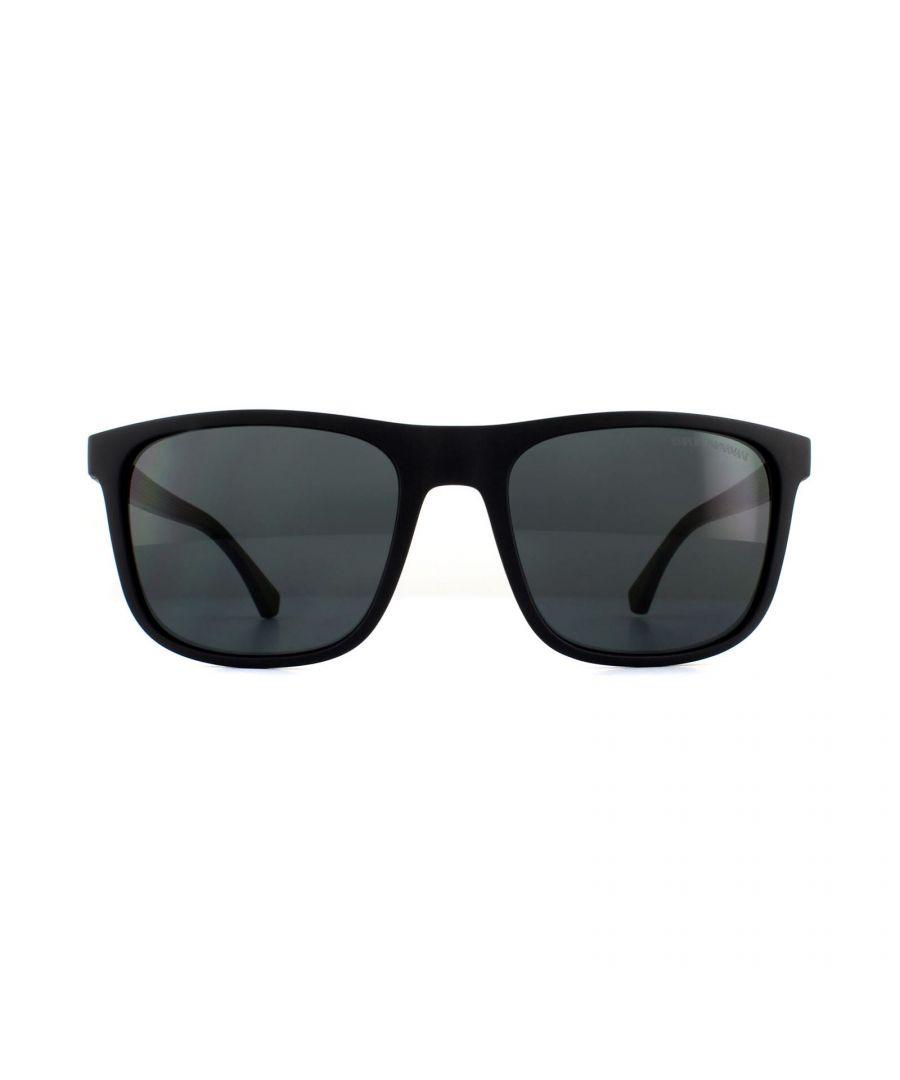 Image for Emporio Armani Sunglasses EA4129 504287 Matte Black Grey Gradient