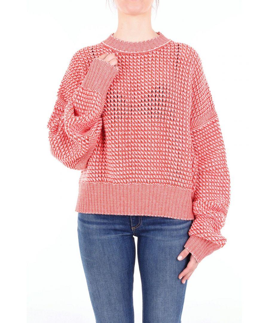 Image for JIL SANDER WOMEN'S JSPN754038WNY1101 RED WOOL SWEATER