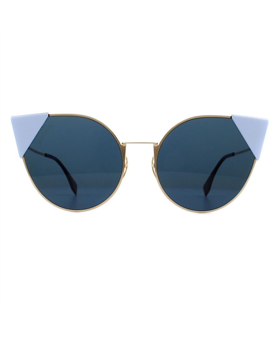Image for Fendi Sunglasses 0190/S 000 A9 Rose Gold and Lilac Blue