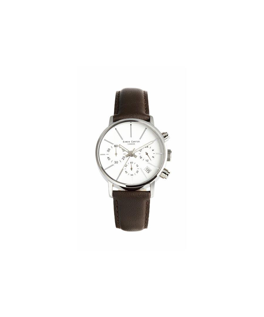 Image for Simon Carter LT001 Chronograph Watch White