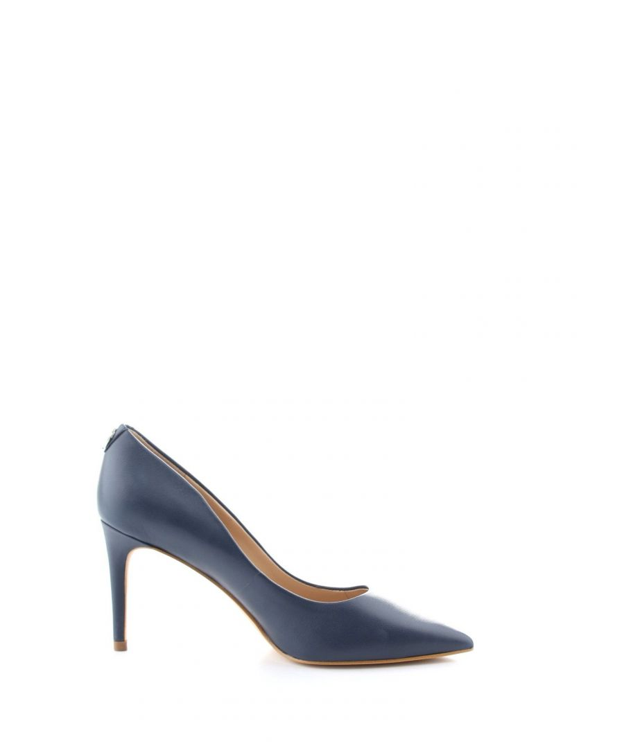 Image for GUESS WOMEN'S FL7B11LEA08NAVY BLUE LEATHER PUMPS