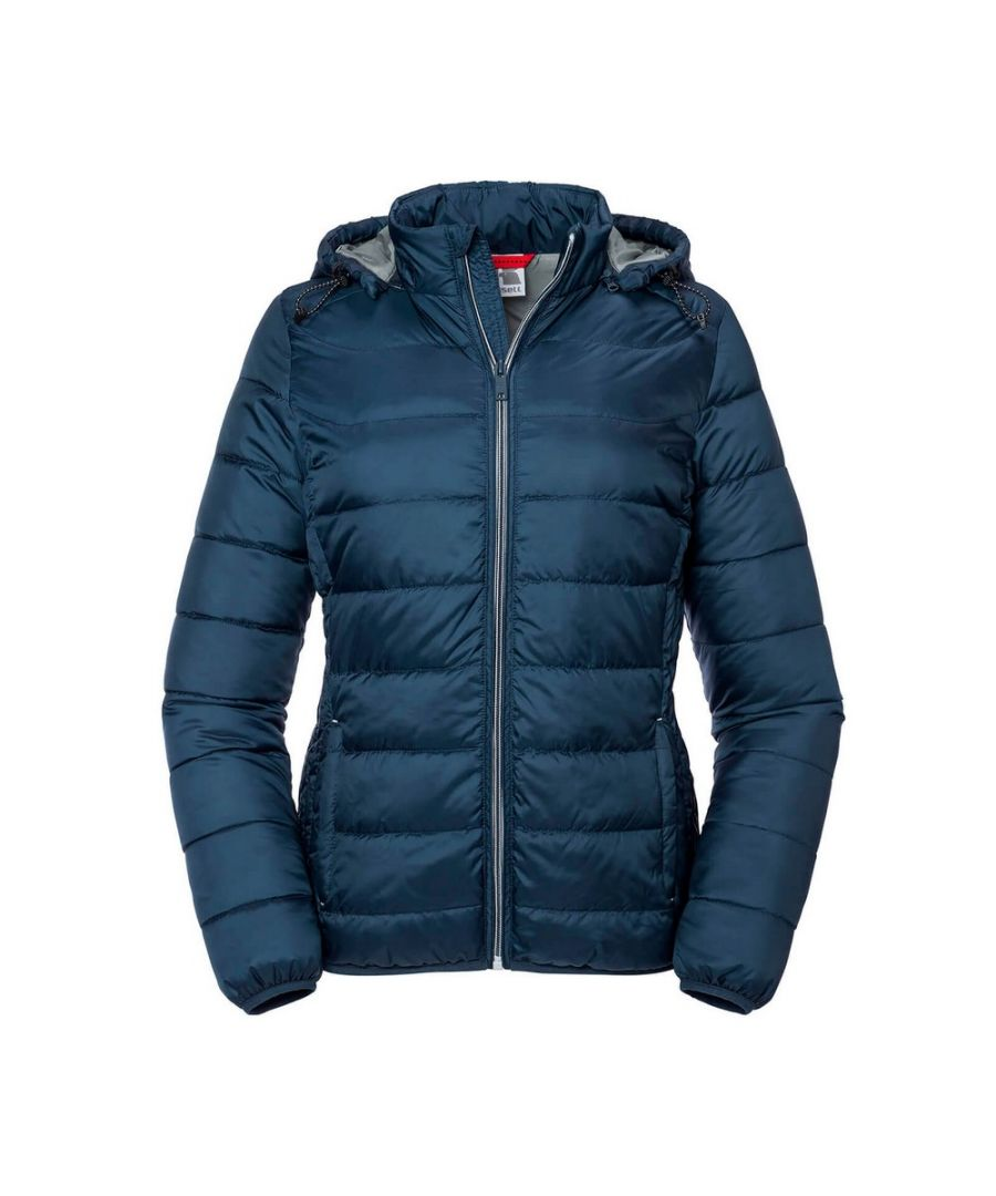 Image for Russell Women's Ladies Hooded Nano Jacket (French Navy)