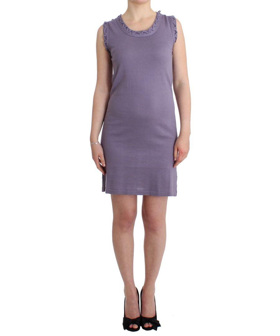 Image for Galliano Purple cotton jersey dress