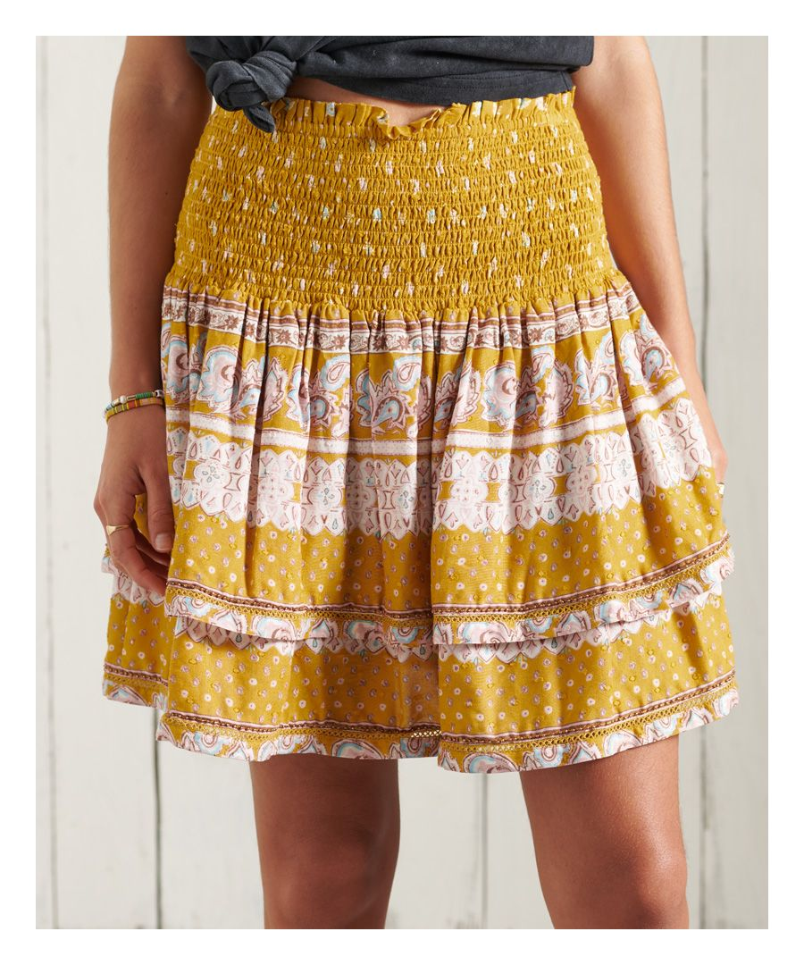 Image for Superdry Ameera Mini Smocked Skirt