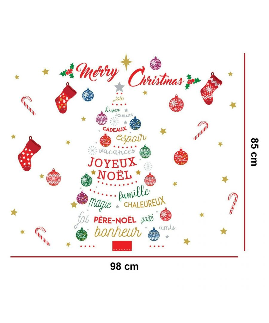 Image for WFXC5304 - COM - WS4027 + WS3322 - French Quotes Merry Christmas Tree