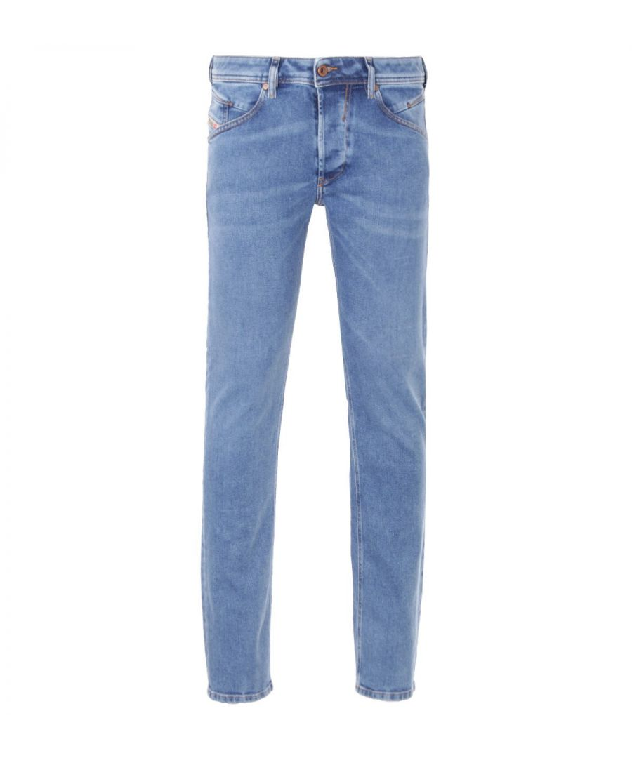 Image for Diesel Belther-R Tapered Fit Jeans - Light Blue