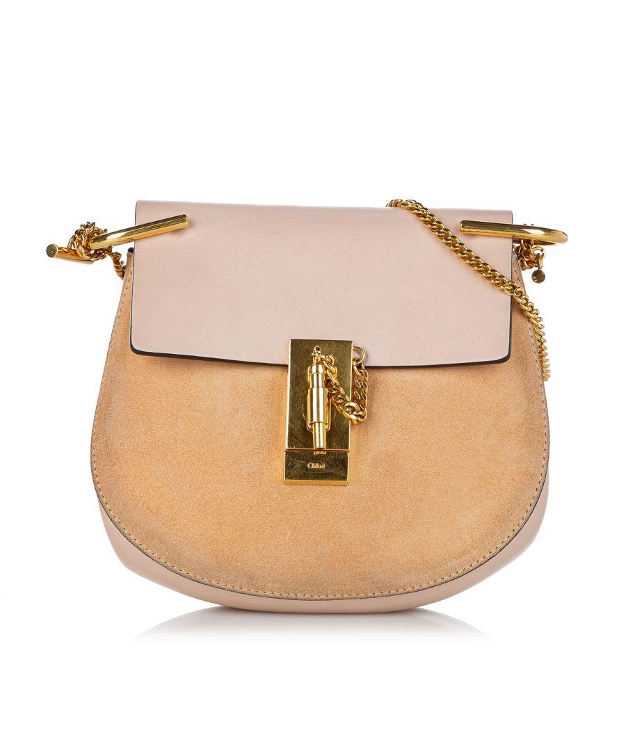 Image for Vintage Chloe Drew Suede Crossbody Bag Brown